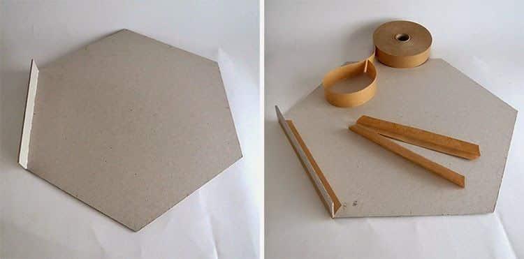 Painel com Pedaços de Papelão