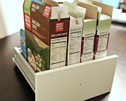 Organizador de Gavetas com Caixas de Cereal