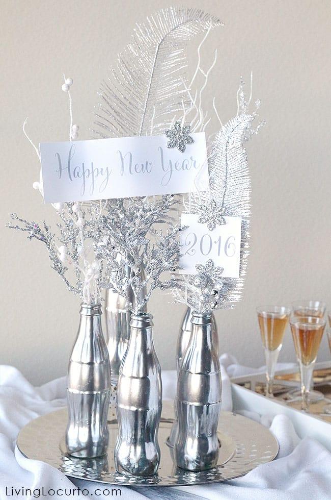 Dica de Enfeite de Ano Novo com Garrafa