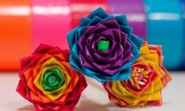Como Fazer Flor com Fita Adesiva