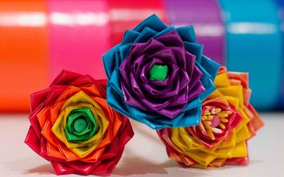 Dicas para Fazer Flor com Fita Adesiva