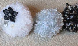 Como Fazer Chaveiro de Pompom de Lã
