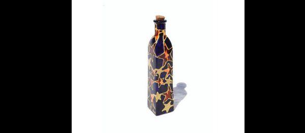 mosaico na garrafa