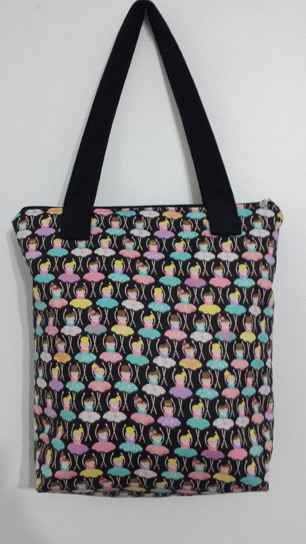 bolsa com tecido colorido