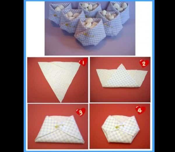 fralda de tecido para lembrancinha