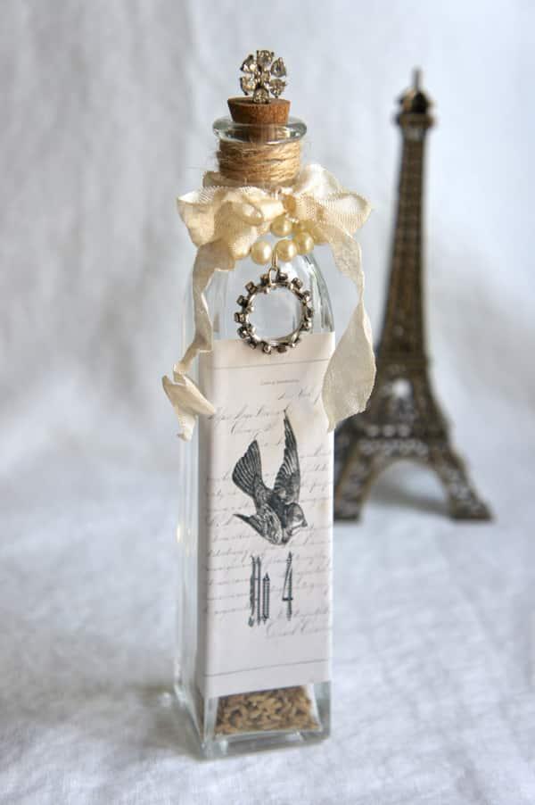 garrafa com tecido