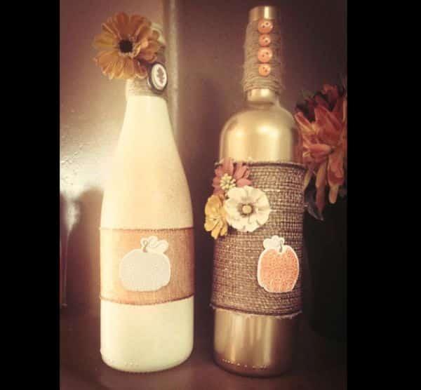 garrafa com flor