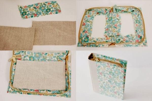 bolsa com tecido finalizada