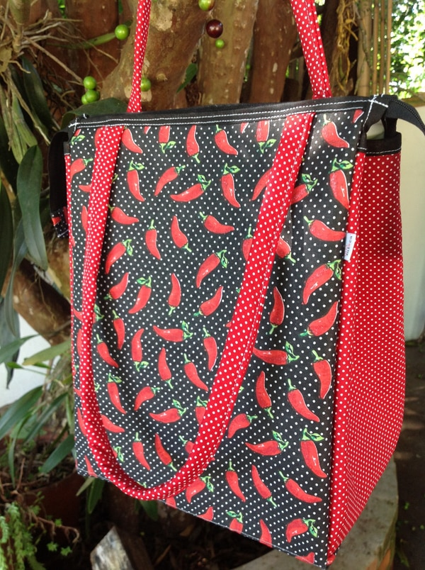 bolsa com tecido pimenta