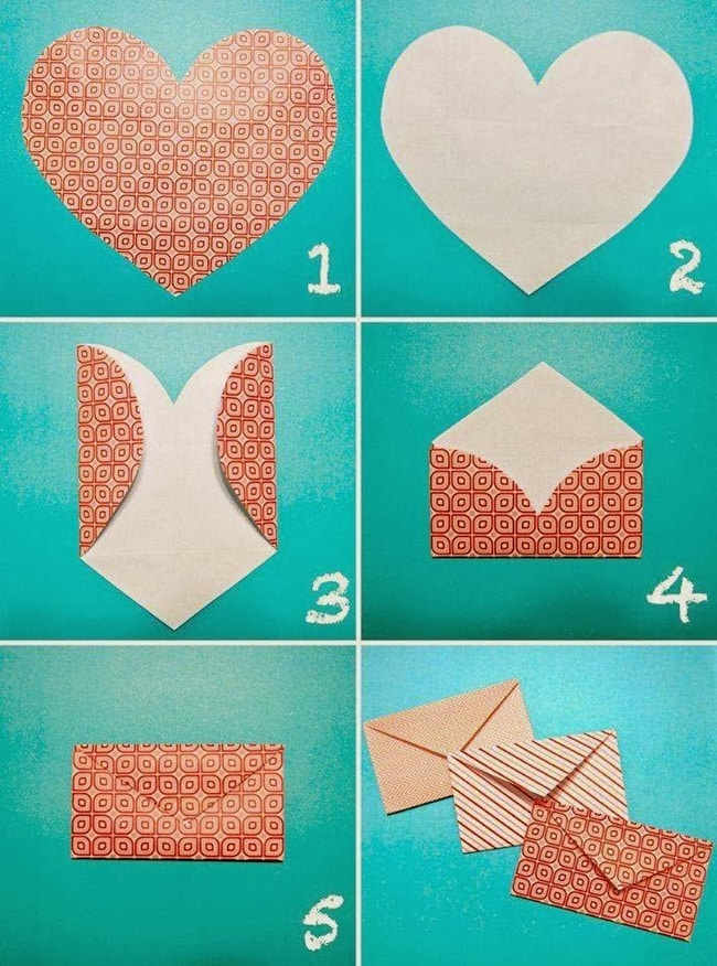 dobradura de papel origami coração
