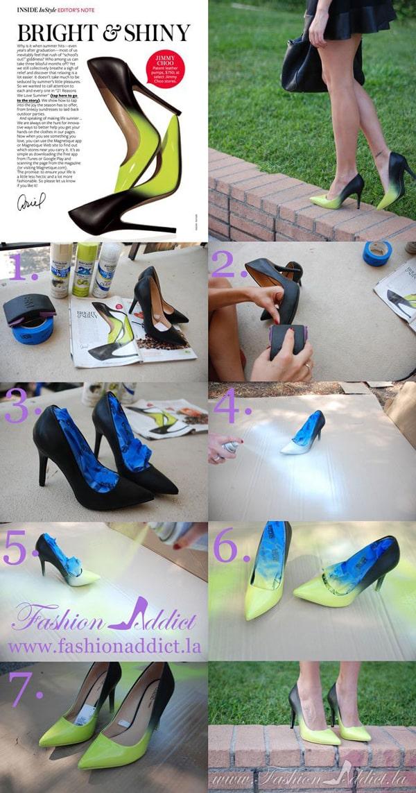 customização de calçado com tinta em spray