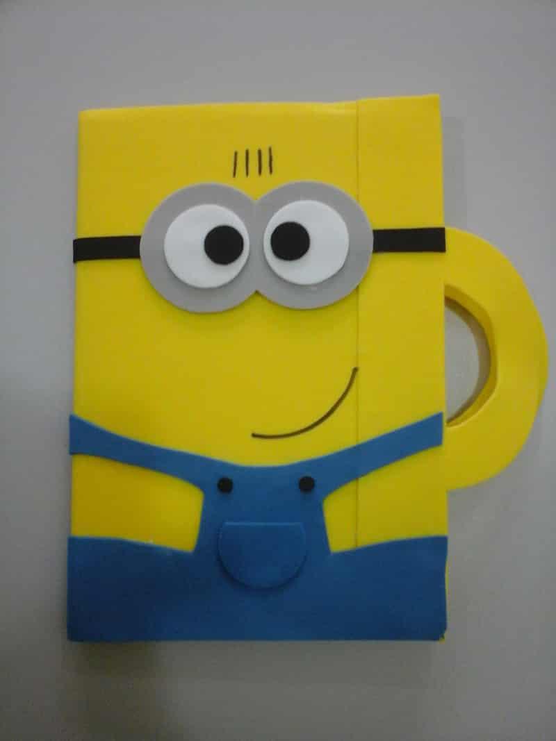 caderno com eva com alça
