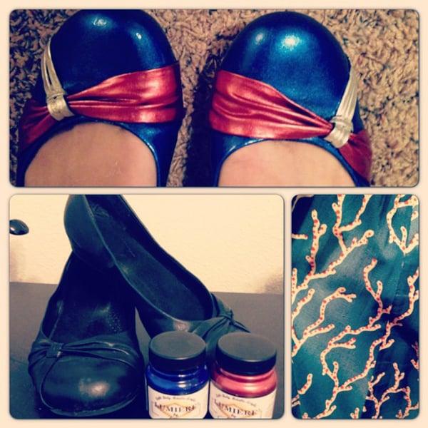customização de calçado simples