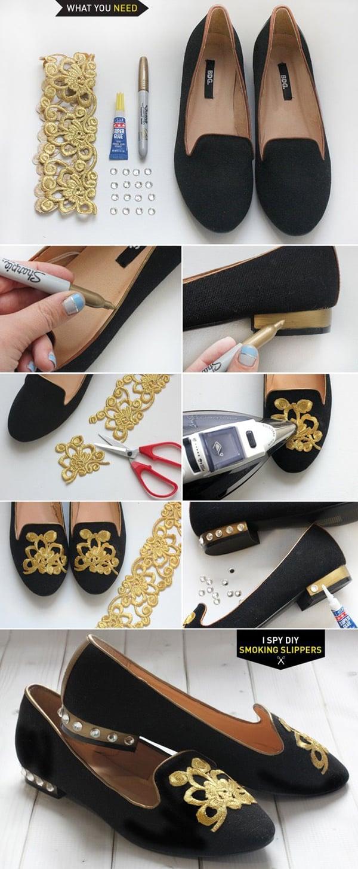 customização de calçado com renda