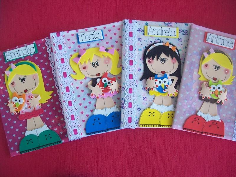 caderno com eva meninas