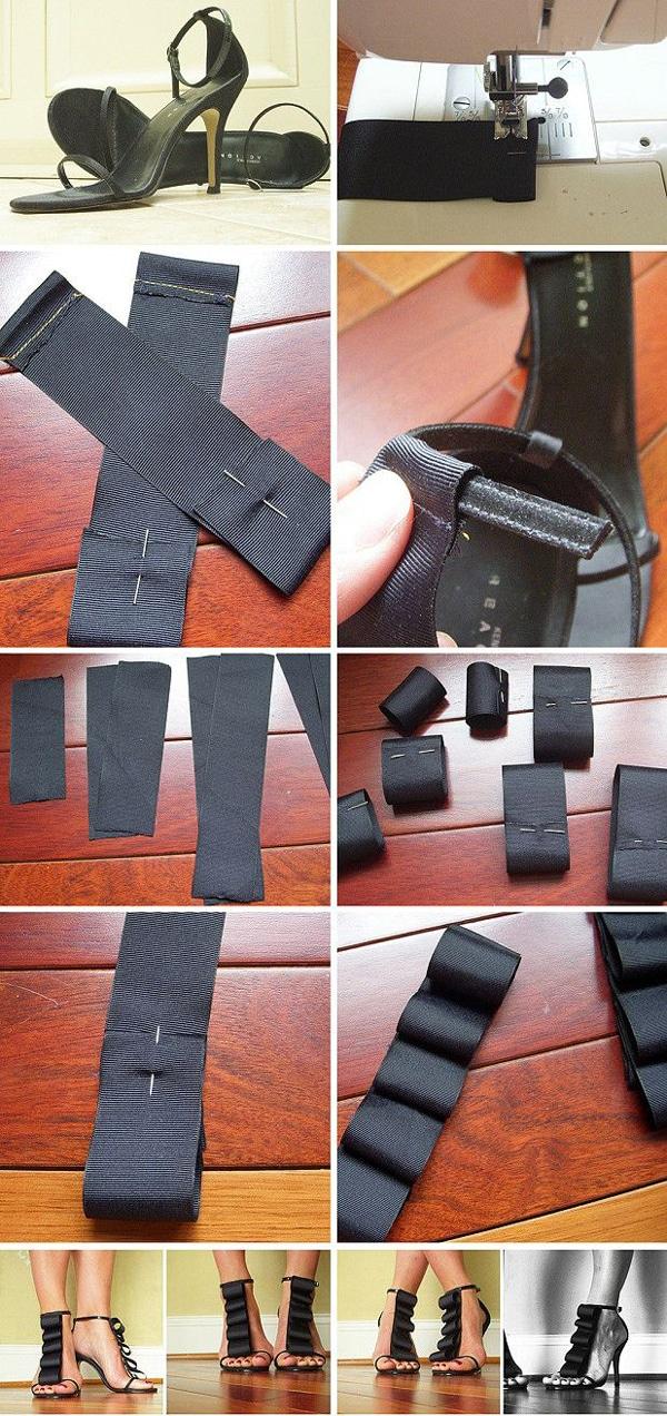 customização de calçado com laço