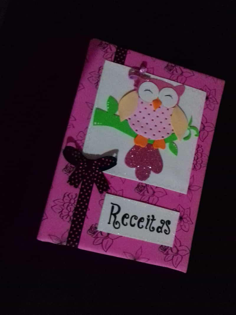 caderno com eva para receitas