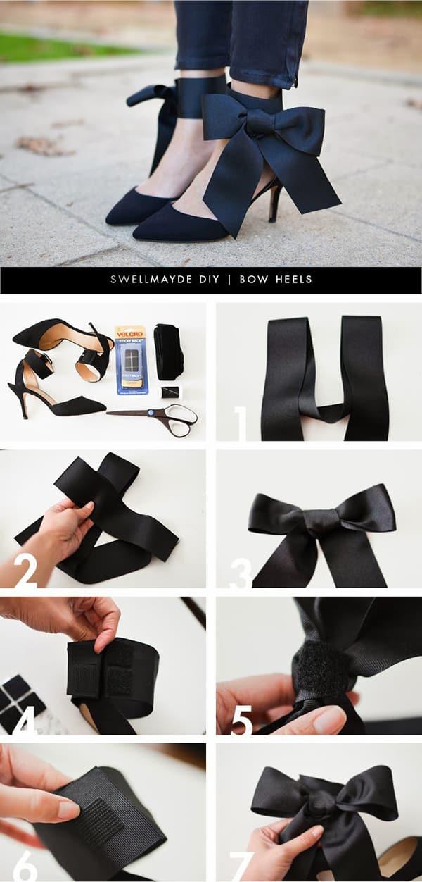 customização de calçado com fita