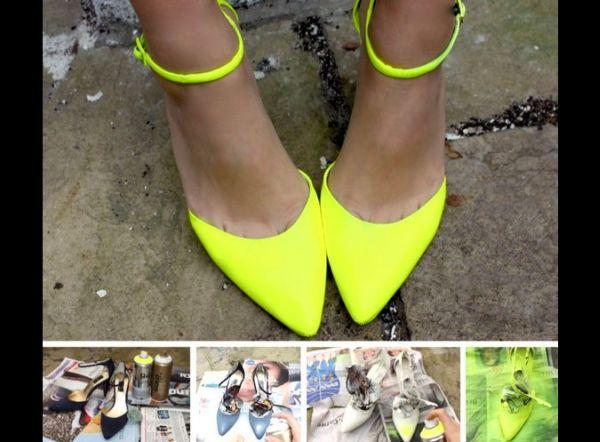 customização de sandália