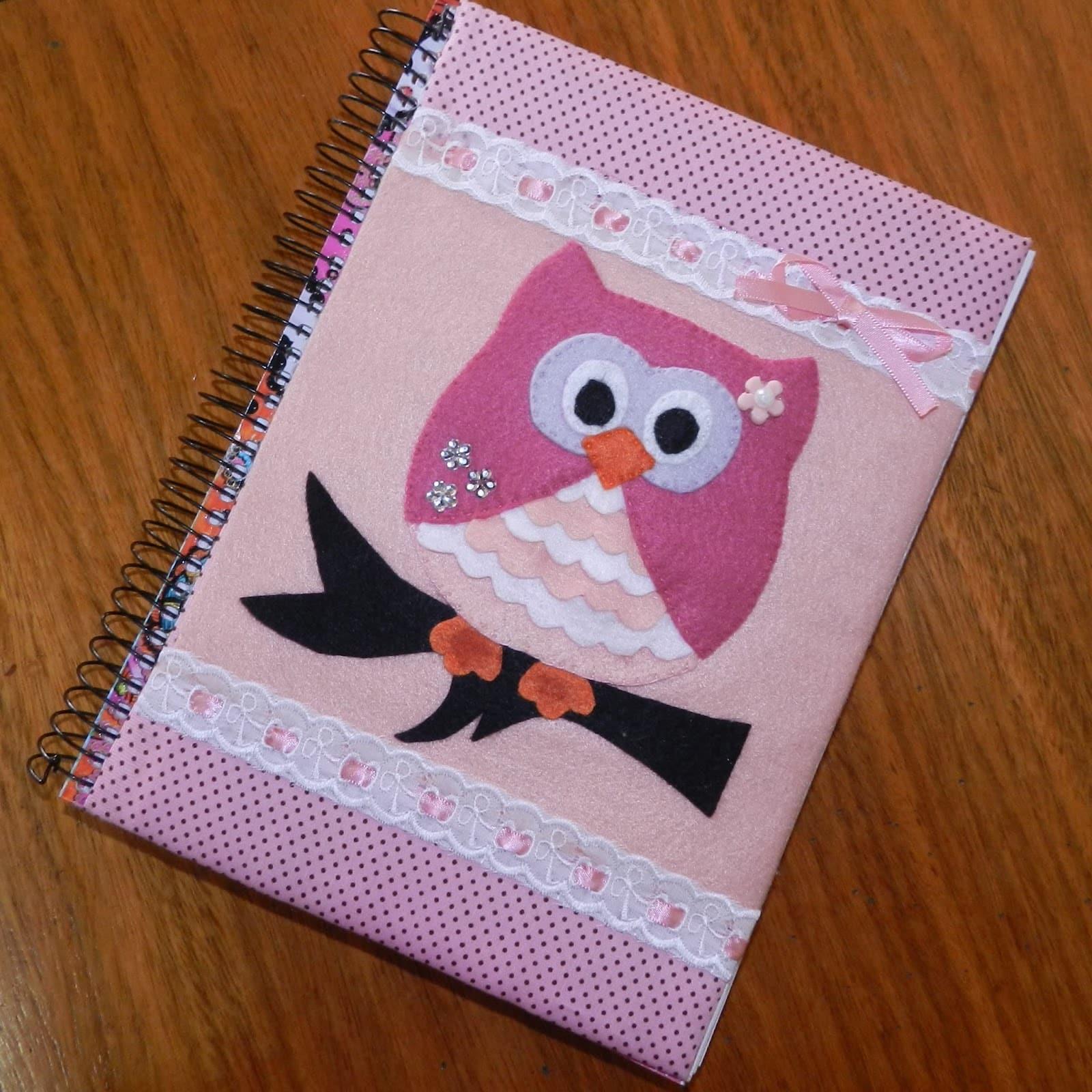 capa de caderno de feltro