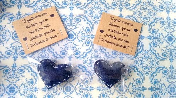 lembrança para casamento coração feltro