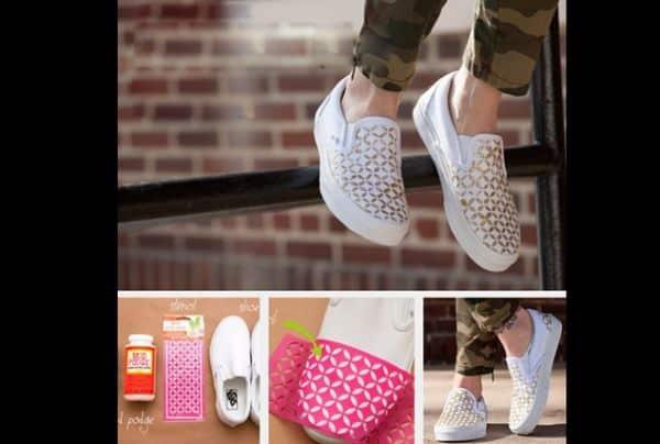 customização de calçado com estêncil