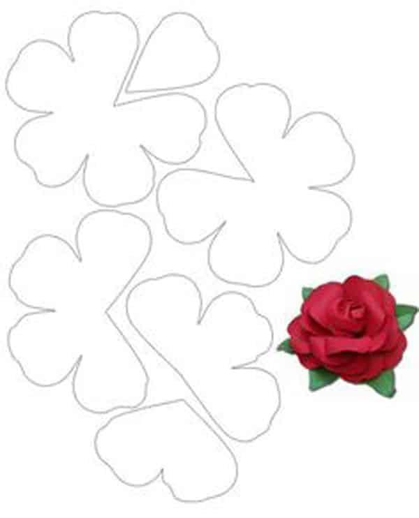 molde de flor rosaq