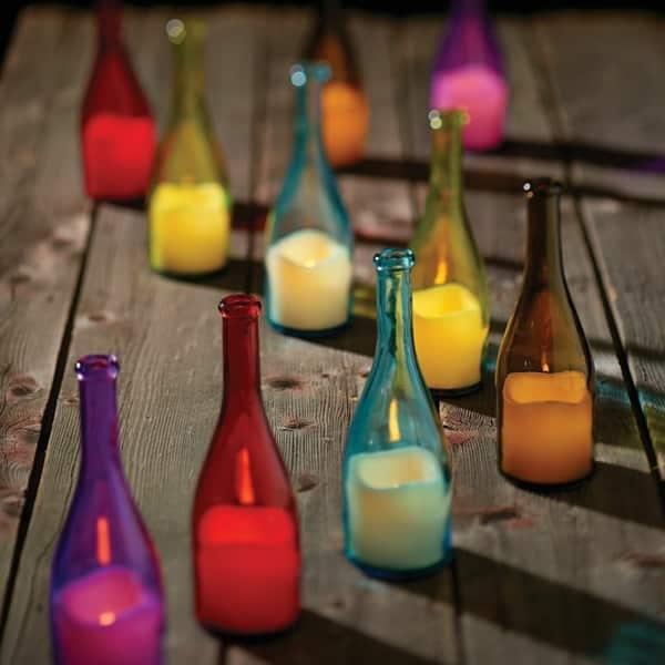 vela artesanal na garrafa