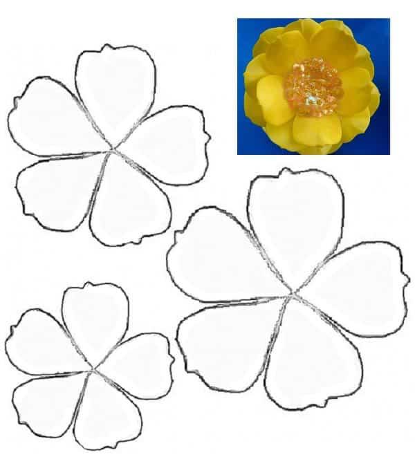 molde de flor amarela