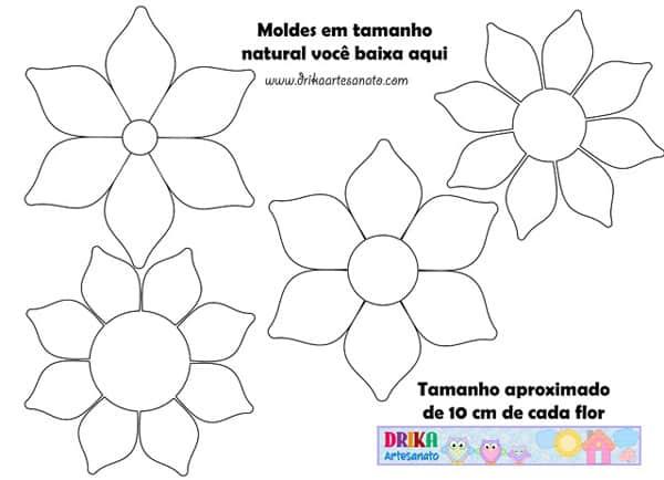 molde de flor pontuda