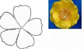Molde de Flores para Imprimir