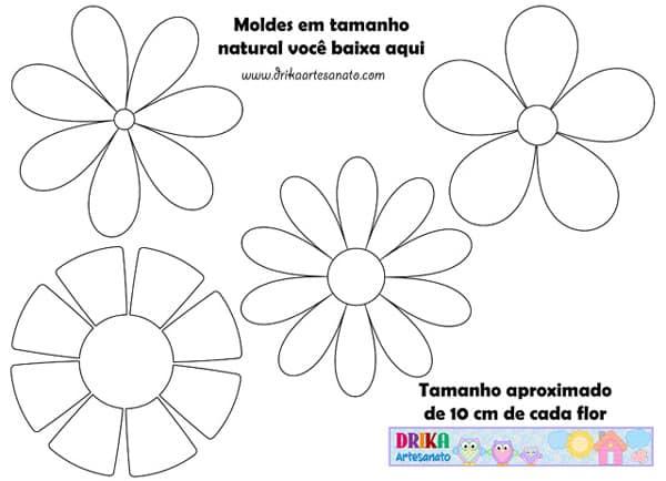 molde de flor quadrada