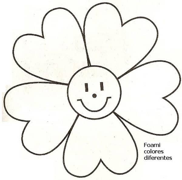 molde de flor com carinha