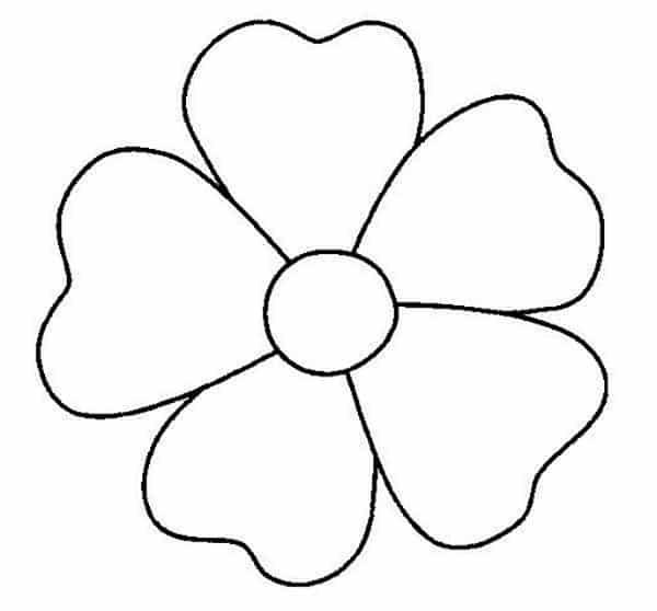 molde de flor simples
