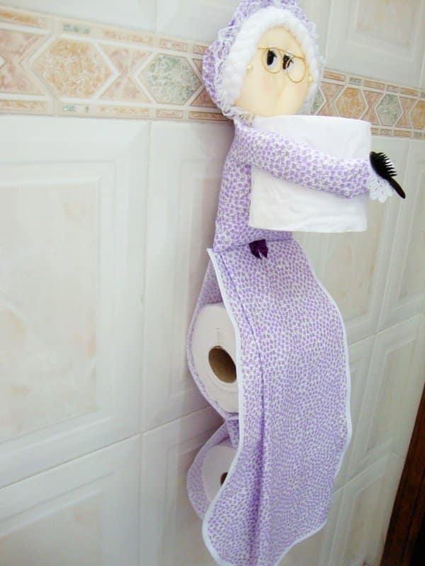 porta papel higiênico menina