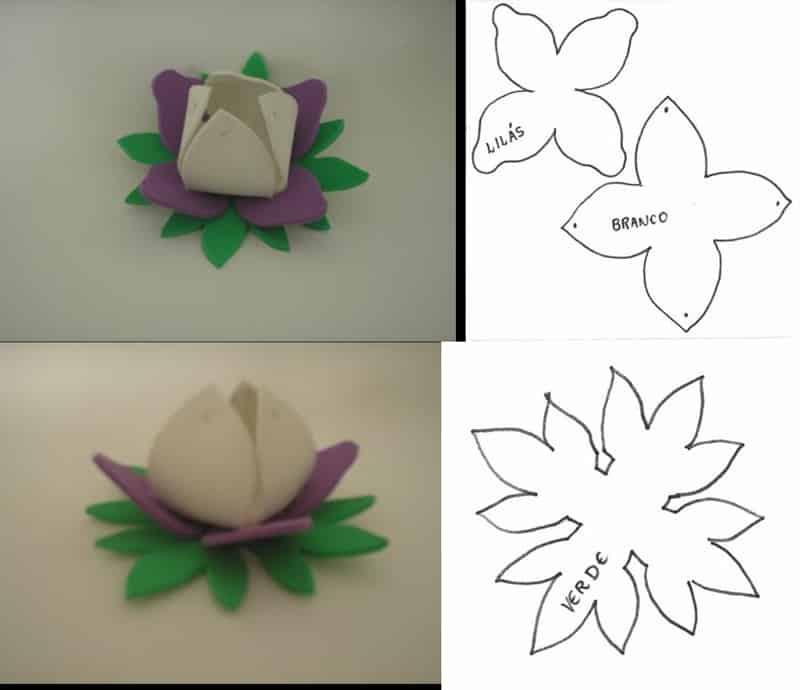 porta bombom de eva flor