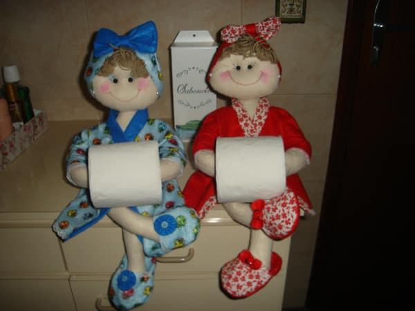 porta papel higiênico bonecas