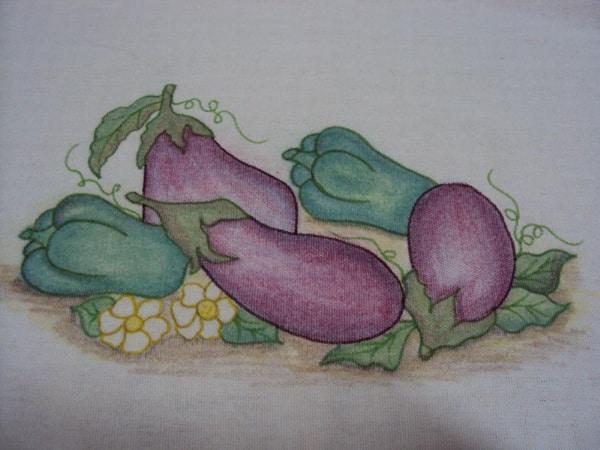 pintura com giz de cera berinjela