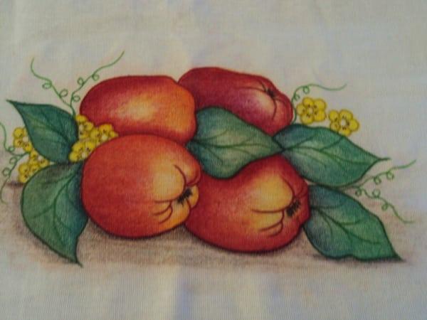 pintura com giz de cera frutas