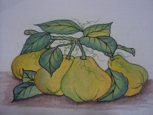 pintura com giz de cera pera