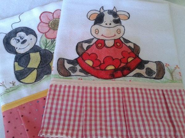 pintura com giz de cera vaca