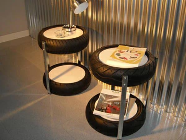 mesa com pneu com andares
