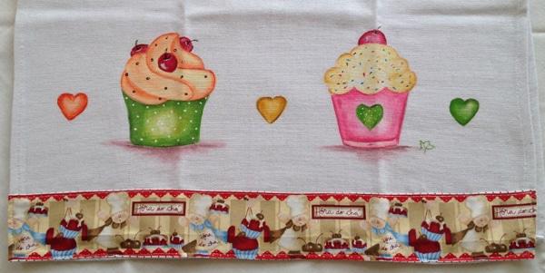 pintura com giz de cera cupcake