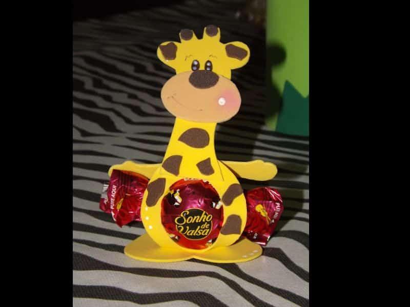 porta bombom de eva girafa