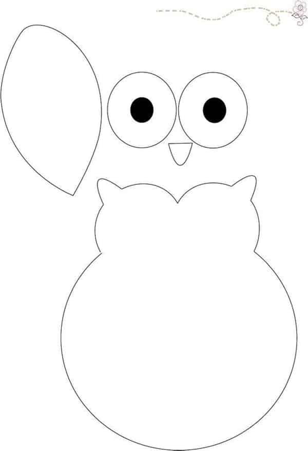 desenho de coruja com olhos