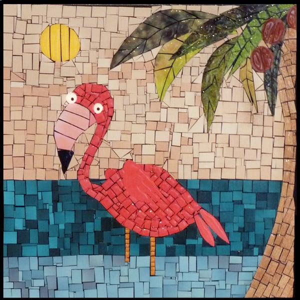 mosaico de papel flamingo