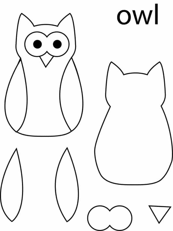 desenho de coruja pequeno