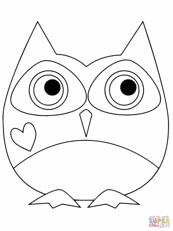 desenho de coruja redonda