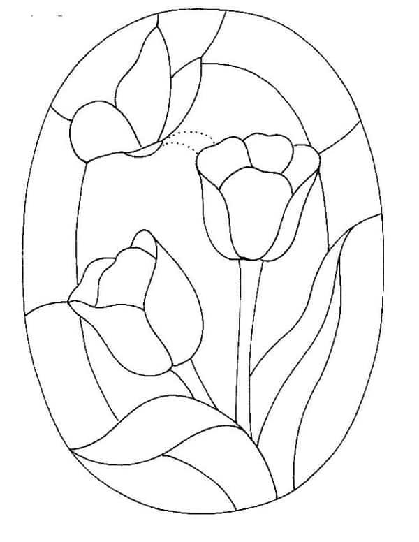 desenho mosaico de papel