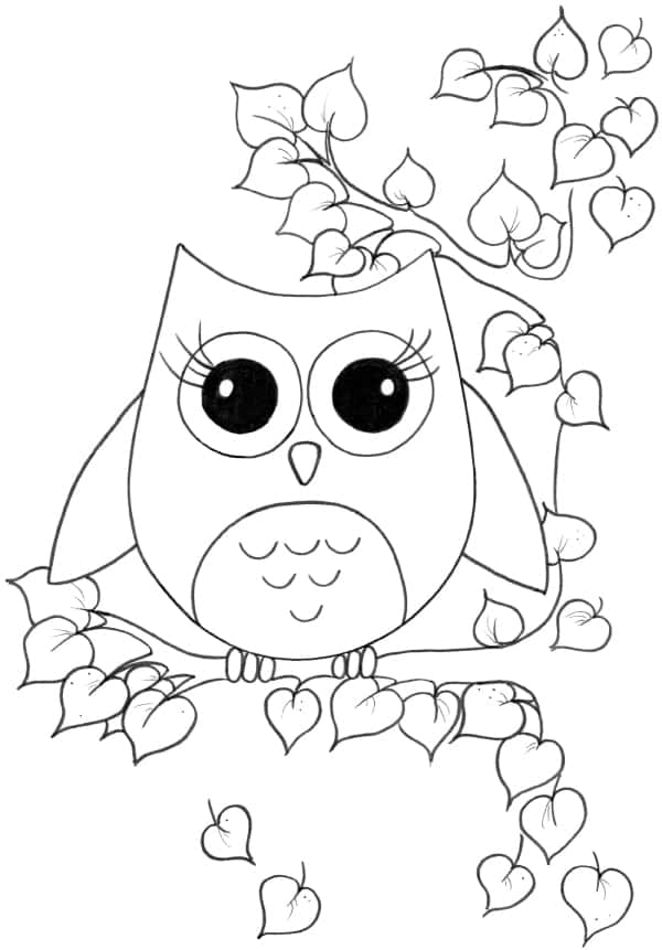 desenho de coruja facil